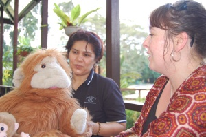 puppetry advice at Sepilok