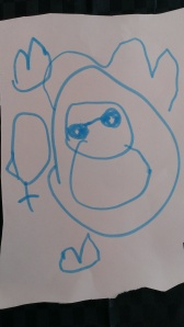 Eva's drawingof Cloud Child age 4