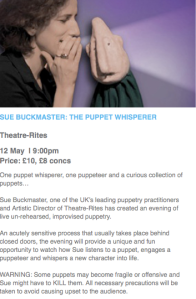 The Puppet Whisperer advert
